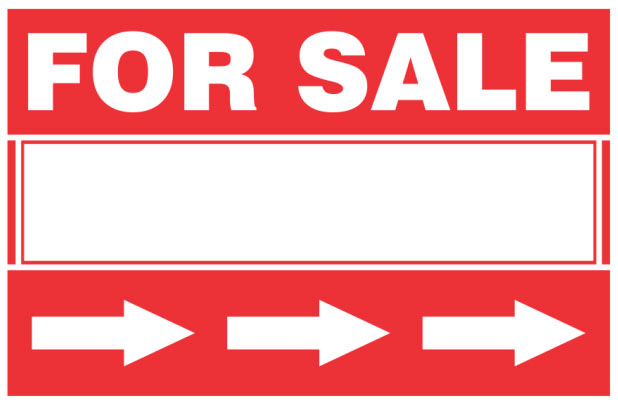 For Sale - Directional Sign