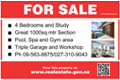 For Sale Sign - Pictorial with QR Code