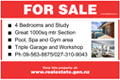 For Sale Sign - Pictorial