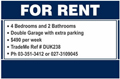 For Rent Sign - Standard